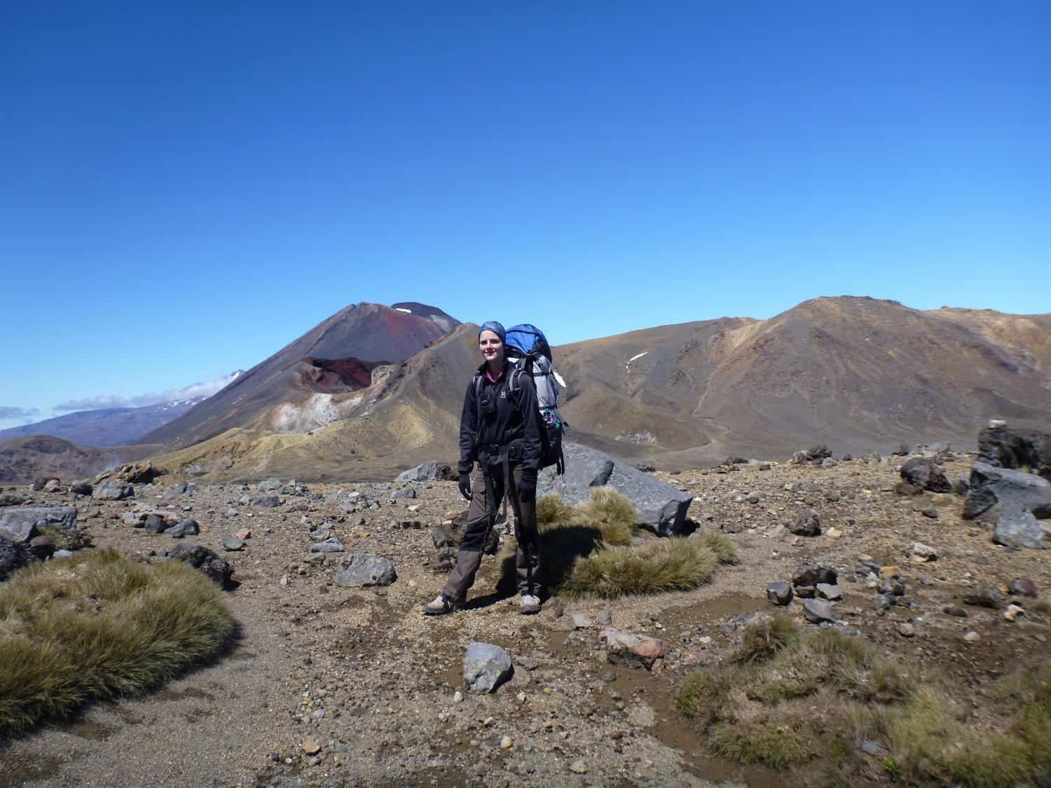 ME standing in front of Mount Tongariro in New Zealand
