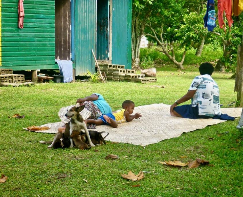 Daily life in a Fijian village