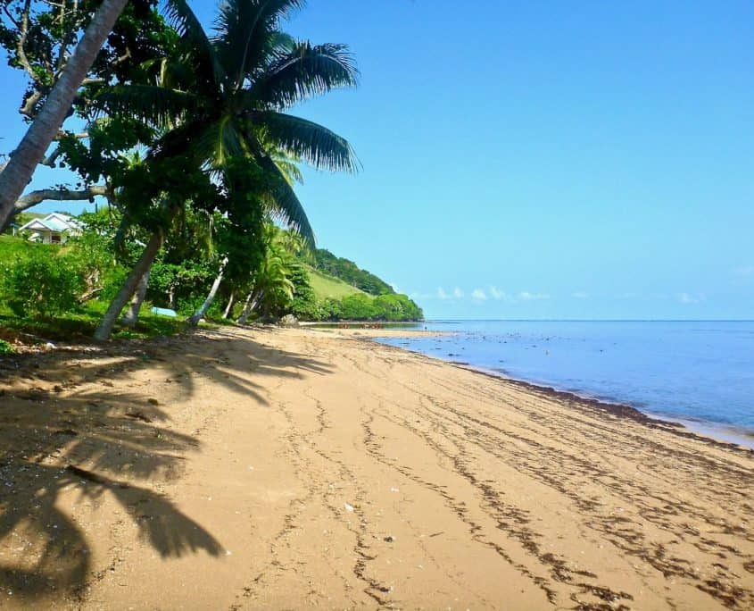 The beach at Naikorokoro