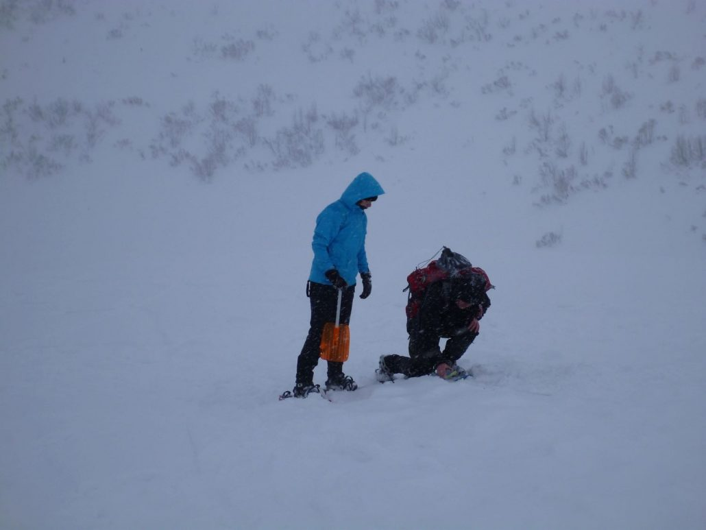 Avalanche rescue excercise part I