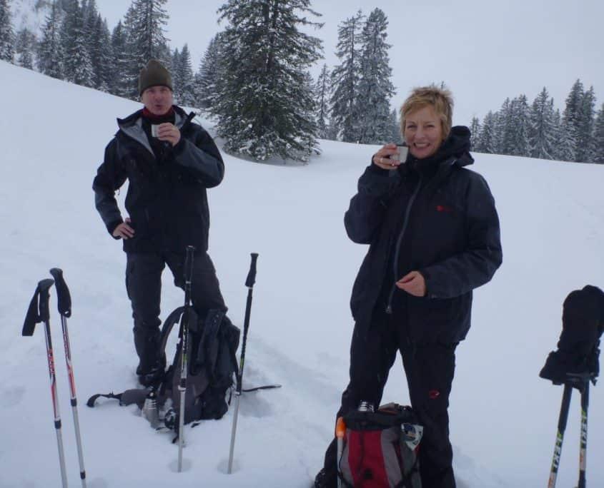 Tea break in the snow