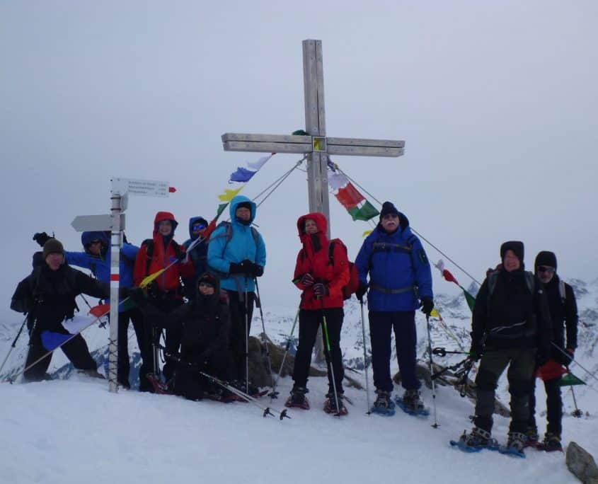 The group at the top of the Steinmandl 1985m