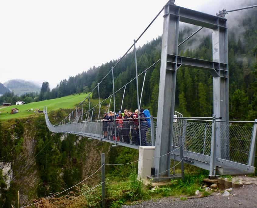 The cable suspension bridge near Holzgau