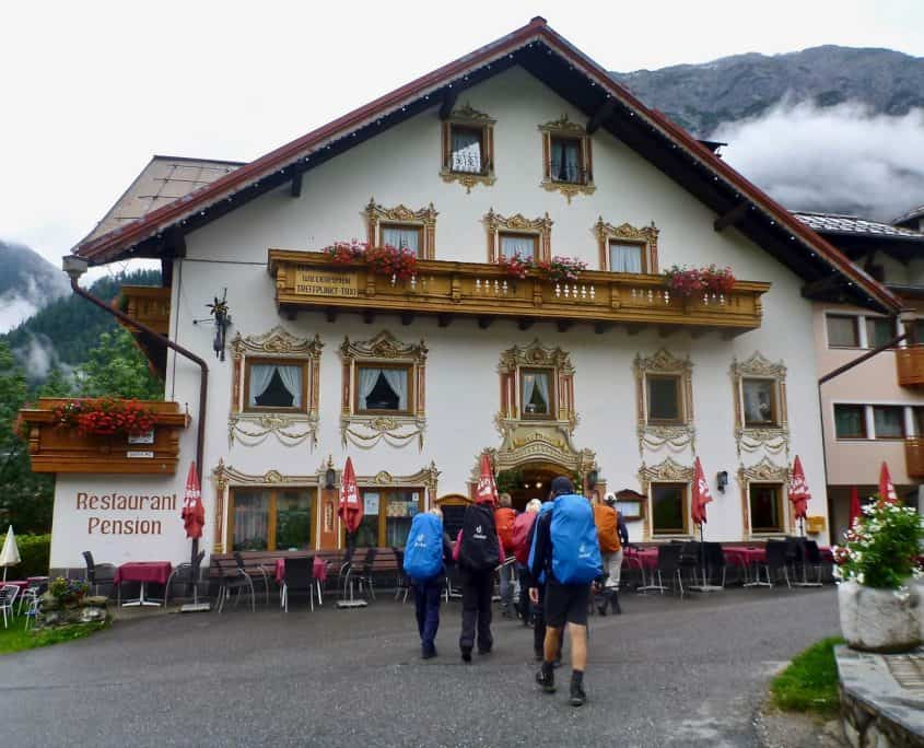 lunch at a typical Austrian restaurant