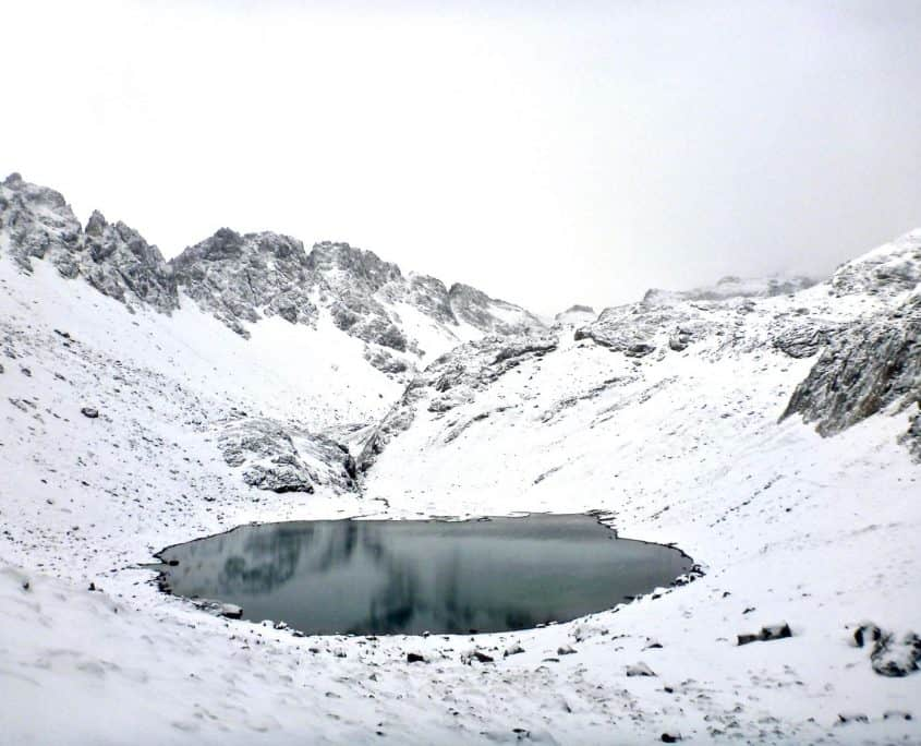A lake near the Memminger hut