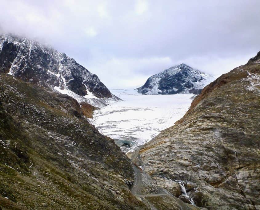 The glacier at Braunschweiger hut