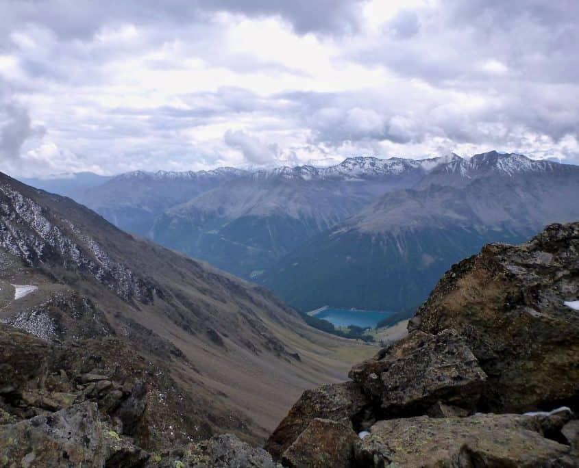 View towards Vernagt water reservoir