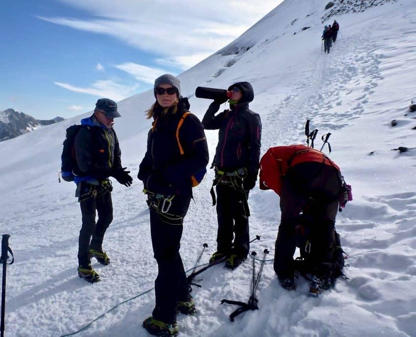 Preparing for climbing the Similaun
