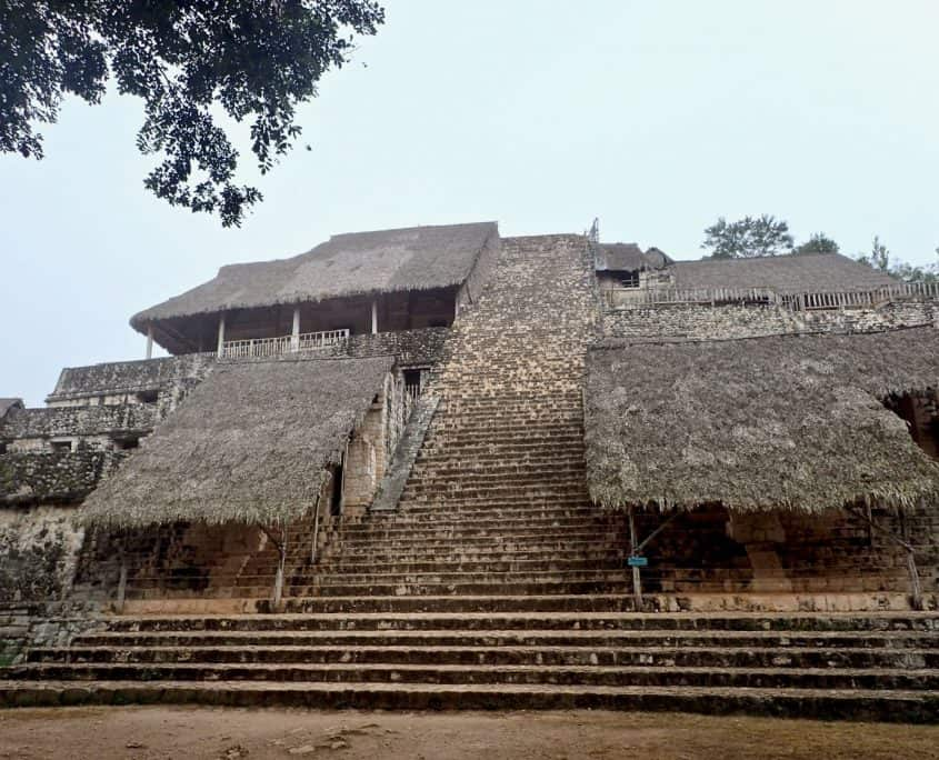The main pyramid of Ek Balam - lots of stairs!