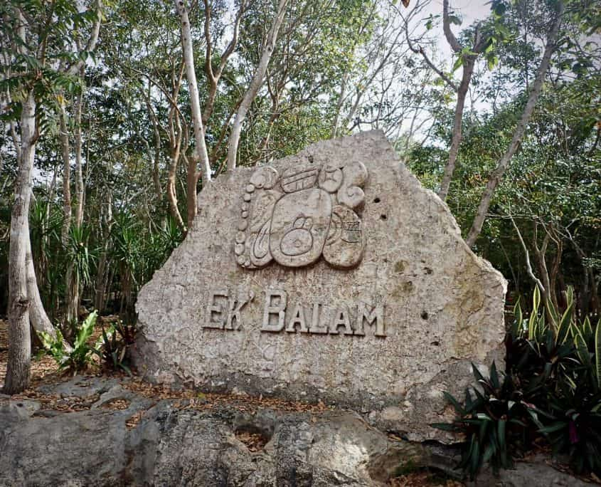 Entrance to the Mayan ruins of Ek Balam