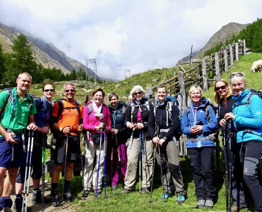 The hiking group at the end - HAPPY!!!