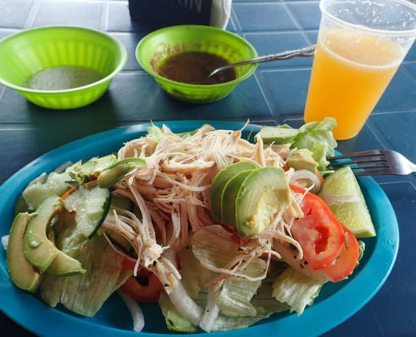 Typical Mexican food - a nice salad