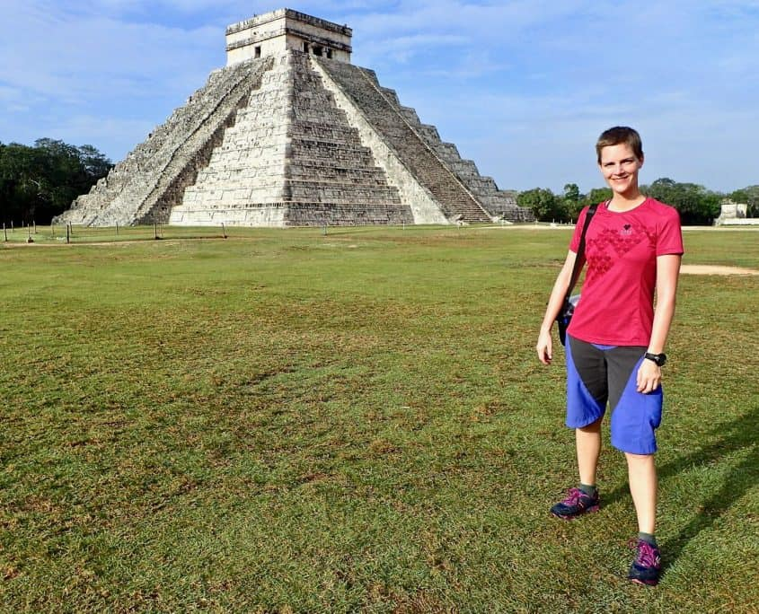 Chichén Itzá - me in front of the main pyramid
