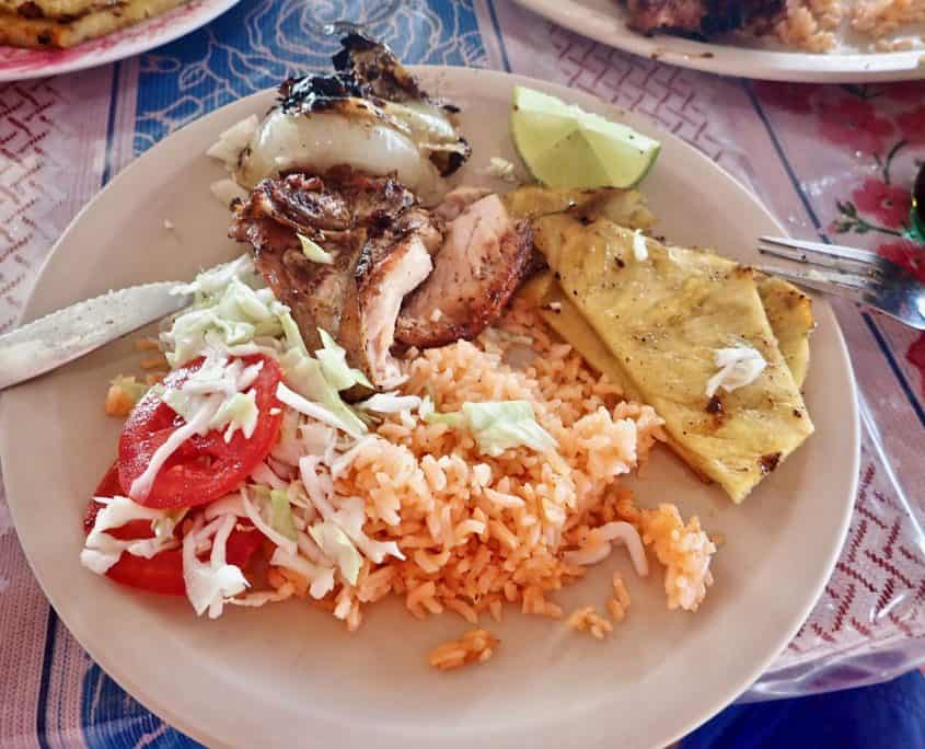 Typical Mexican food - grilled chicken