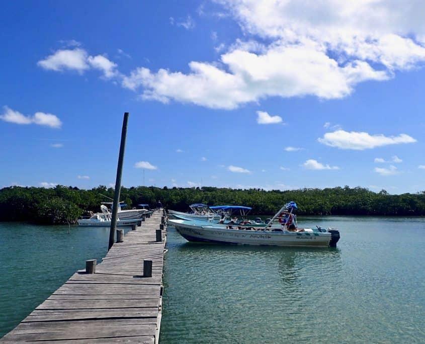 Cycling through Sian Ka'an Biosphere Reserve - Jetty in Punta Allen