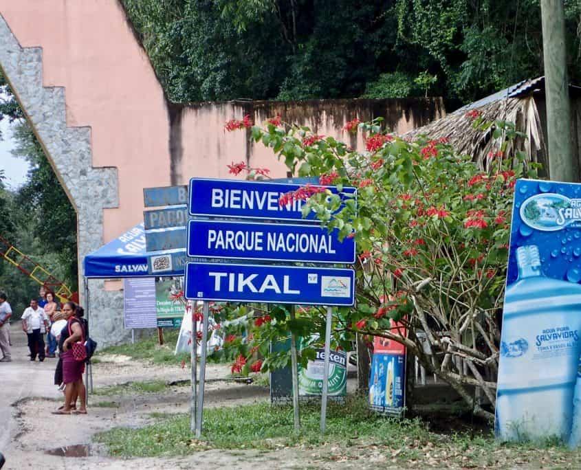 Tikal - The entrance to Tikal National Park