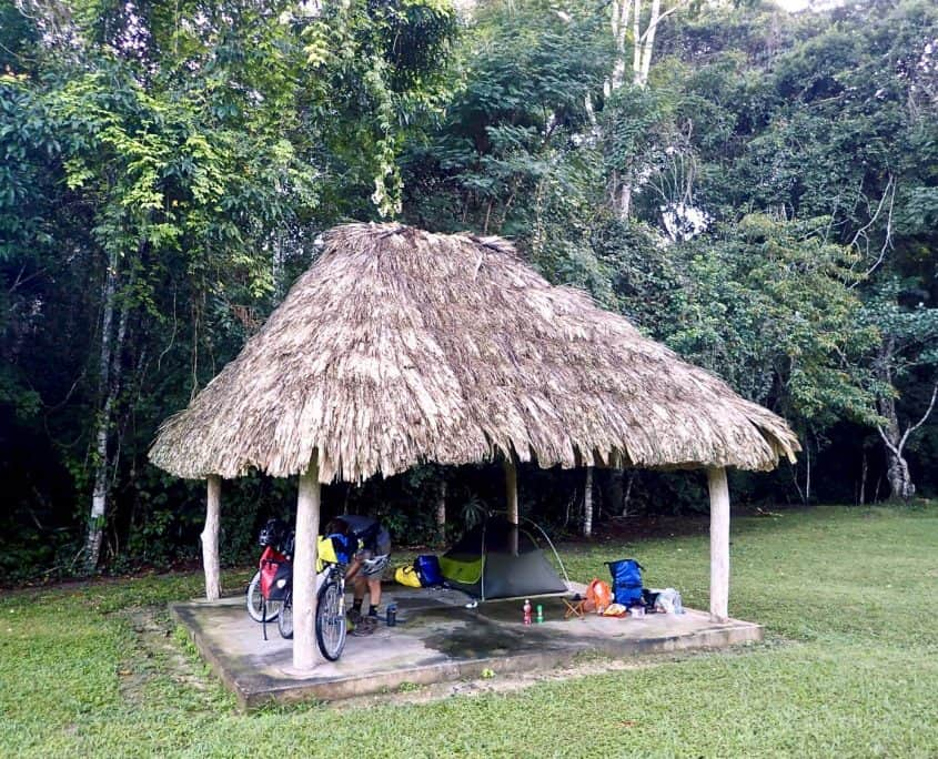 Tikal - our campsite at the Mayan ruins of Tikal