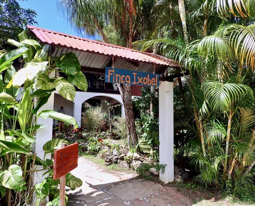 The entrance to Finca Ixobel