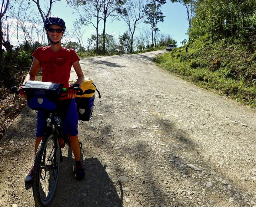 Bicycle touring Guatemala - Downhill and happy!