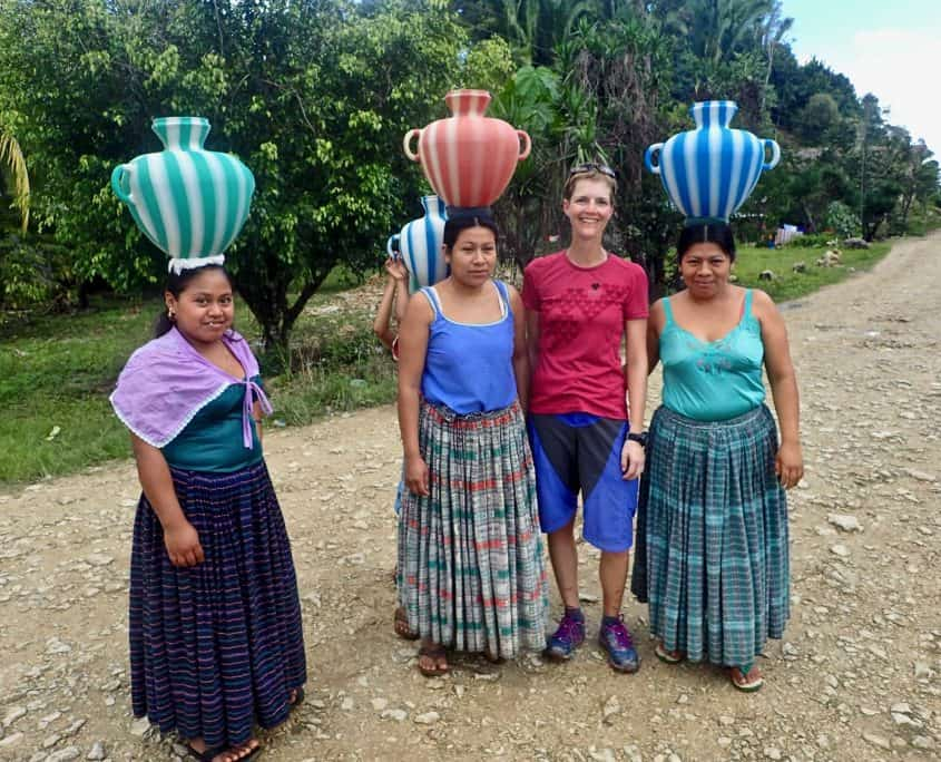bicycle touring Guatemala - photo with the loals