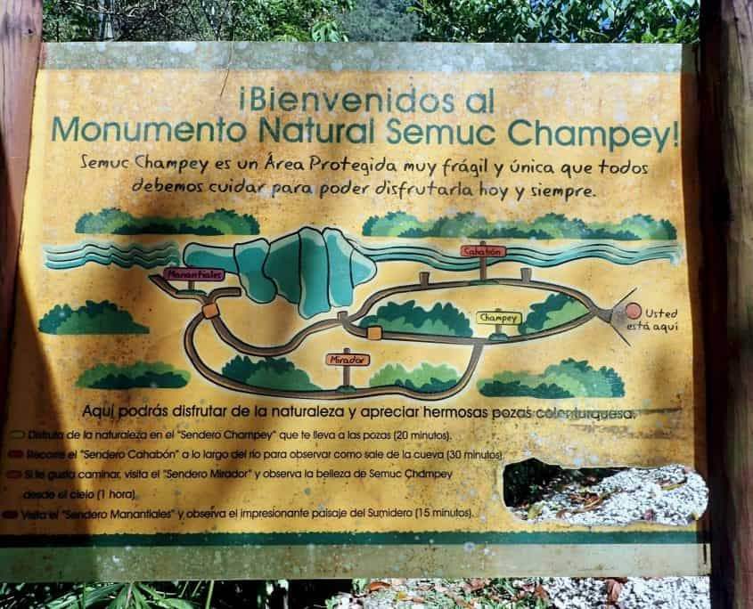 A map or I'd better say drawing of Semuc Champey