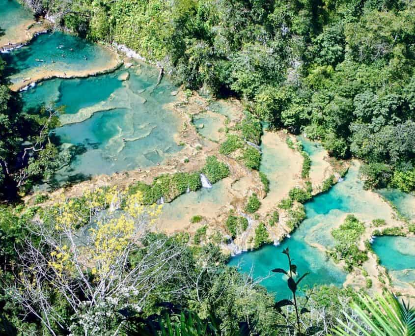 Semuc Champey seen from the viewpoint El Mirador