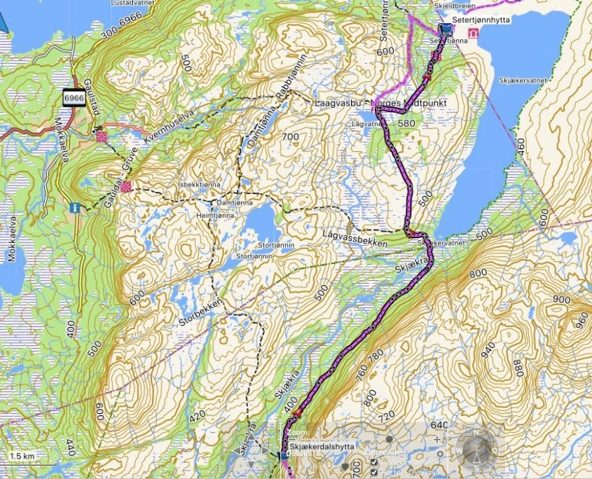 E1 navigation and maps - route planning with Garmin Basecamp